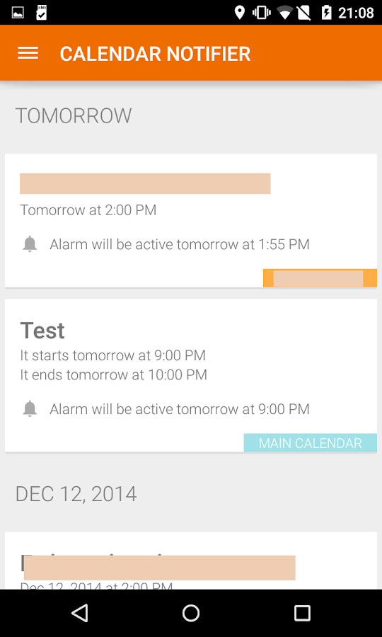 Events Notifier for Calendar Screenshot 1