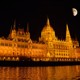Budapest at Night by Lux Aeterna - City,  Street & Park  Night