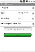 Screenshot of My Budget Buddy