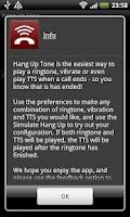Screenshot of Hang Up Tone Free