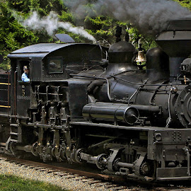 Long Ago by Chuck  Gordon  - Transportation Trains ( railroad, rail, train, smoke, steam )
