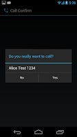 Screenshot of Minimalist Call Confirm