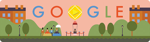 Google Doodle 216th Anniversary of the First Parachute Jump