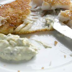 Crumbed Pouting Fillets With Chunky Tartare Sauce