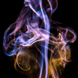 Colored Smoke -2 by Nafiz Mushabbir - Abstract Light Painting