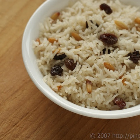 Rice Pilaf with Raisins and Pine Nuts