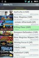 Screenshot of Steam Gifts
