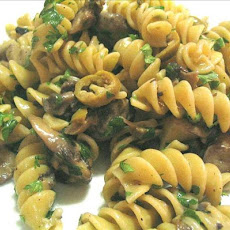 Pasta With Mushroom Garlic Sauce And Olives