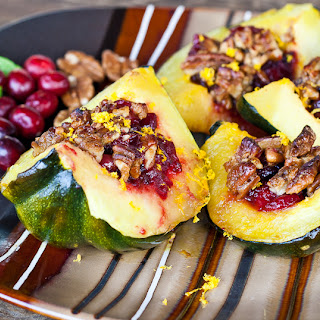 Roasted Squash with Cranberry Crumble