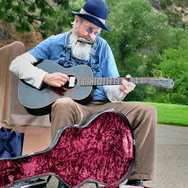 Mr. Blues by Dennis McClintock - People Musicians & Entertainers ( candid people, musician, people, musical instruments challenge, entertainer,  )