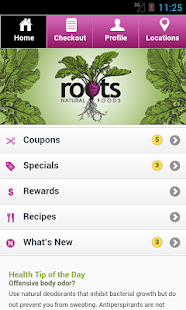 Roots Natural Foods - screenshot