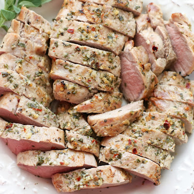Garlic Herb Rubbed Pork Tenderloin
