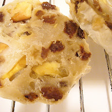Baked English Muffins With Apples and Cheese
