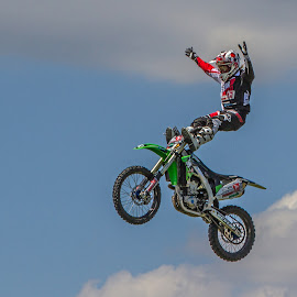Defying Gravity by Nigel Bowsher - Sports & Fitness Motorsports ( motocross, motorcycle, stunt )