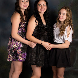 Sisterly Love by Kimmi Walrath Doerr - People Family ( girls, sisters, family, beautiful, teens,  )