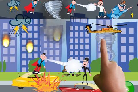 ClickySticky™ Superheroes