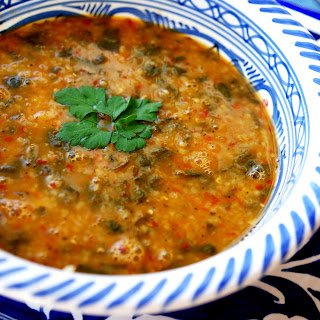 Turkish Lentil Soup with Baby Spinach