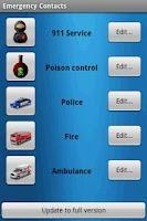 Screenshot of Emergency Contacts