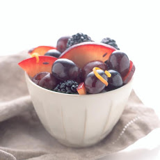 Black Fruits in Lavender Honey Glaze