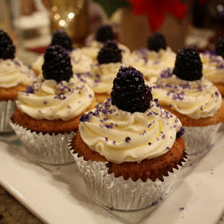 Champagne Blackberry Cupcakes
