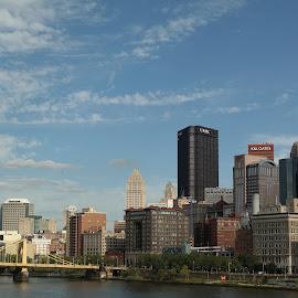 Pittsburgh by Lori Rider - City,  Street & Park  Skylines