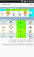 Screenshot of Počasie - pocasie meteo .com