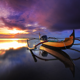 Waiting for you by Nghcui Agustina - Transportation Boats