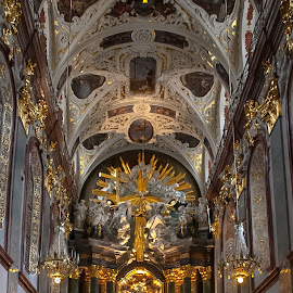 Glow by Maria Luisa - Buildings & Architecture Places of Worship ( church, czestochowa, jasna góra, poland, Architecture, Ceilings, Ceiling, Buildings, Building )