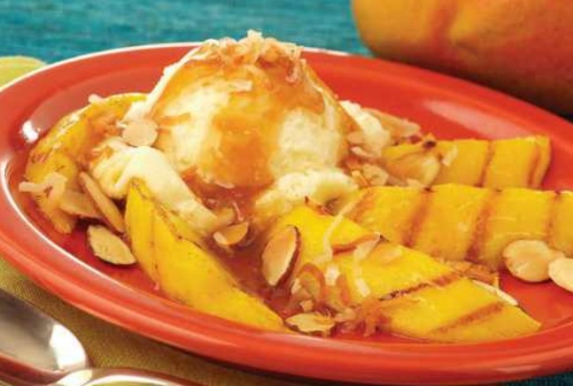 ... Mango with Spicy Rum Glaze and Vanilla Ice Cream Recipe | Yummly