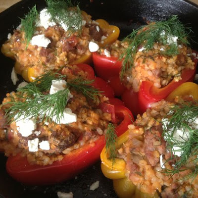 Lamb Stuffed Peppers