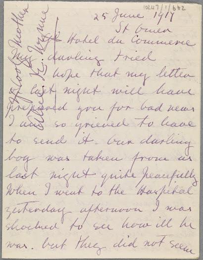 Letter from Alice K Wynne