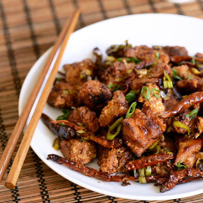 Spicy Wok-Fried Chicken with Chilis (Chongqing Chicken)