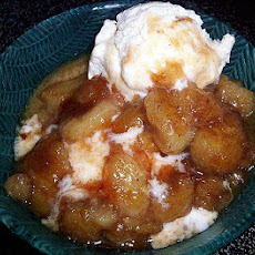 Microwaved Bananas Foster