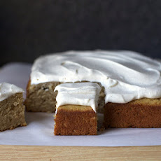 Spiced Applesauce Cake with Cinnamon Cream Cheese Frosting
