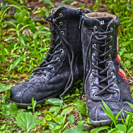 Boots by Mario Denić - Artistic Objects Clothing & Accessories ( shoes, green, dirty, chlotes, boots, artistic, object )