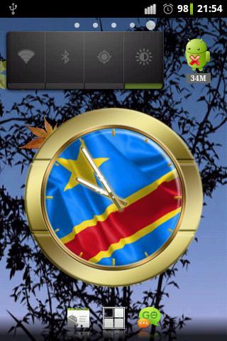 Dem. Rep. Congo flag clocks
