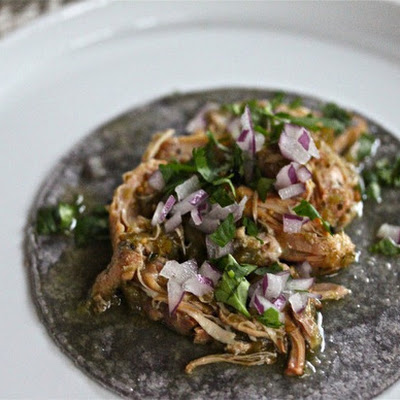 Slow Cooker Chicken Tomatillo Tacos