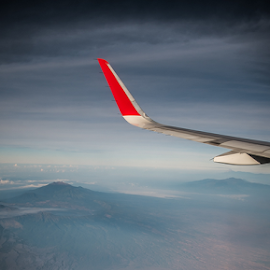 Under The Sky by Amir Hamzah Shukor - Landscapes Mountains & Hills ( flight, mountains, wings, indonesia, airasia, volcanoes, java )