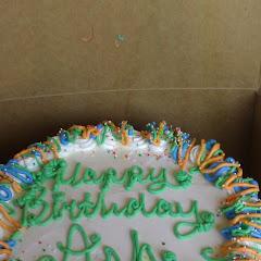 Wheat free,.dairy free birthday cake for me!