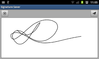 Screenshot of Signature Saver