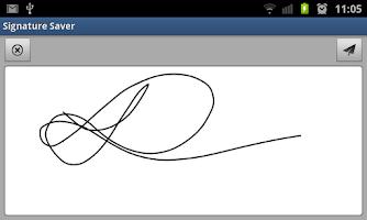 Screenshot of Signature Saver