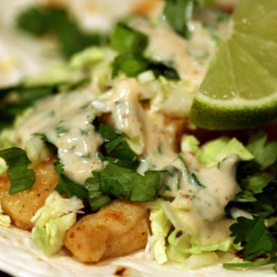 Spicy Lime Fish Tacos