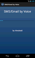 Screenshot of SMS / Email by Voice