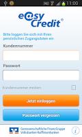 Screenshot of easyCredit