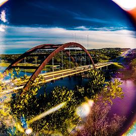 360 bridge through a filter by Kevin Smith - City,  Street & Park  Street Scenes ( 360 austin texas bridge )