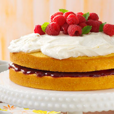 Lemon Raspberry-Filled Cake