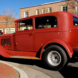 Red Chariot by Roy Walter - Transportation Automobiles ( car, car auto, automobile, transportation, classic )