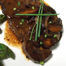 Beef Tenderloin with Ginger-Shiitake Brown Butter