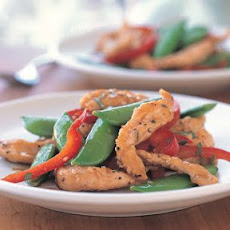 Sesame Chicken with Sugar Snap Peas