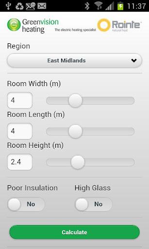 Rointe Room Calculator